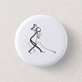 Badge with two Tango dancers 1 Inch Round Button