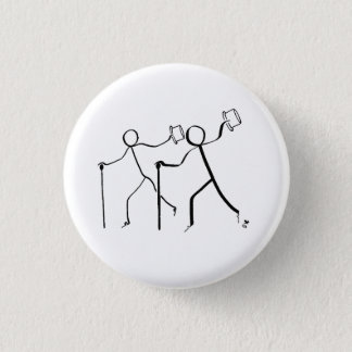 Badge with two Tap dancers. 1 Inch Round Button