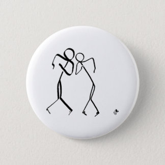 Badge with two Time Warp dancers 2 Inch Round Button