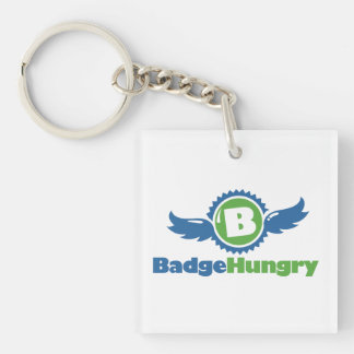 BadgeHungry Acrylic Square Keychain