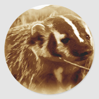 badger 1 classic round sticker