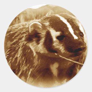 badger 1 round sticker