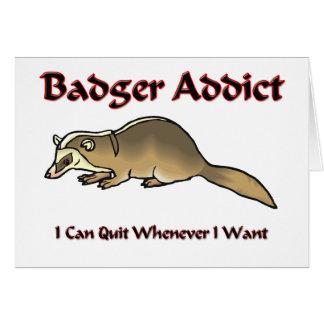 Badger Addict Card