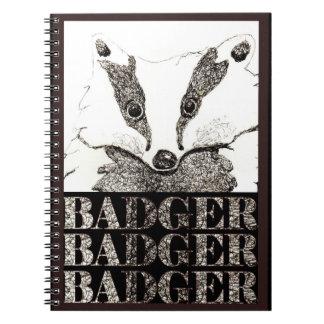 Badger Badger Badger notebook (a287)