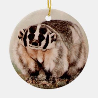 Badger Ceramic Ornament