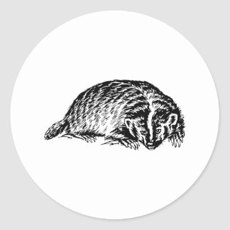 Badger Classic Round Sticker