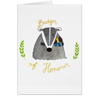 Badger of Honour greeting card by Nicole Janes