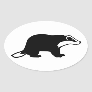 Badger Oval Sticker