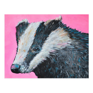 Badger Postcard