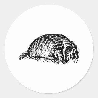 Badger Round Sticker