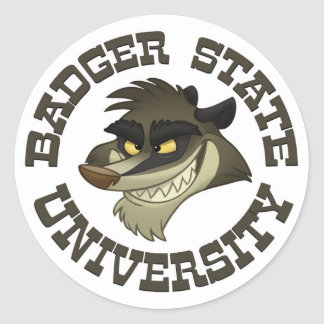 """Badger State University"" Stickers"