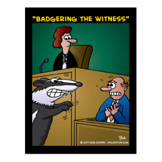 """""""Badgering The Witness"""" Postcards"""