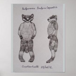 Badgerman sketch poster