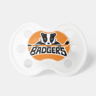 Badgers Hockey Logo Baby Pacifiers