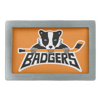 Badgers Hockey Logo Belt Buckles