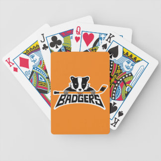 Badgers Hockey Logo Bicycle Playing Cards