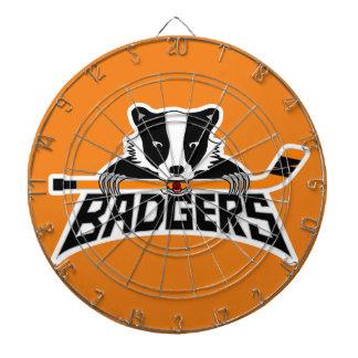 Badgers Hockey Logo Dartboard With Darts