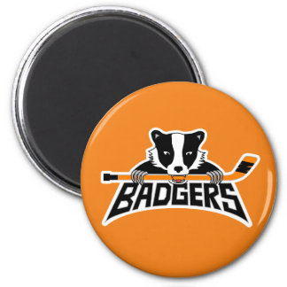 Badgers Hockey Logo Magnet