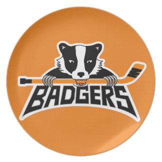 Badgers Hockey Logo Plate