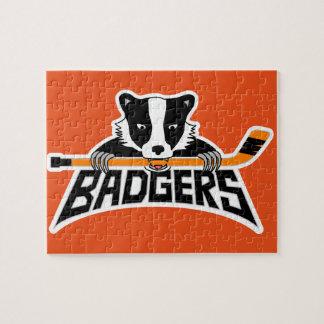 Badgers Hockey Logo Puzzles