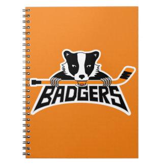Badgers Hockey Logo Spiral Notebooks