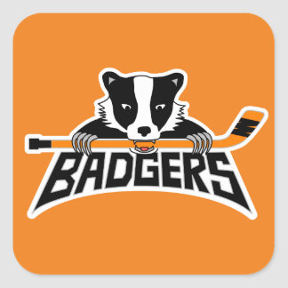 Badgers Hockey Logo Square Sticker