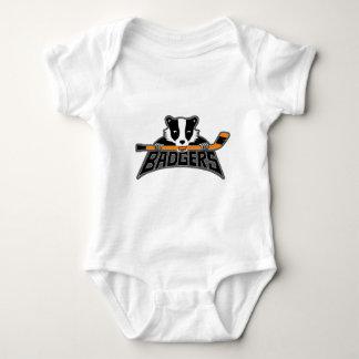 Badgers Logo - Dark Outline Baby Bodysuit