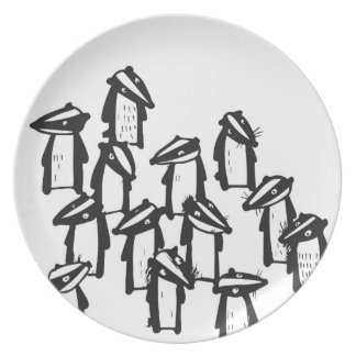 Badgers Plate