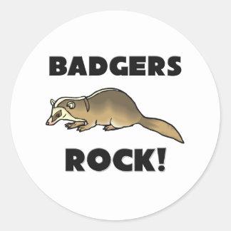 Badgers Rock Round Sticker
