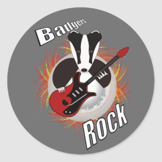 Badgers rock sticker