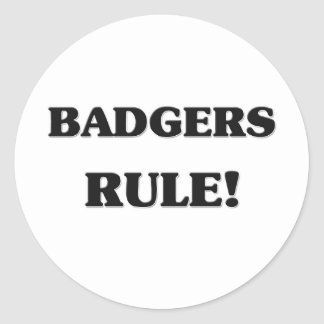 Badgers Rule Classic Round Sticker