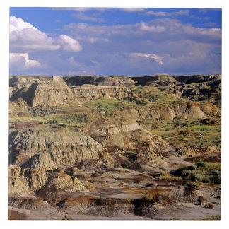Badlands at Dinosaur Provincial Park in Alberta, 2 Ceramic Tiles