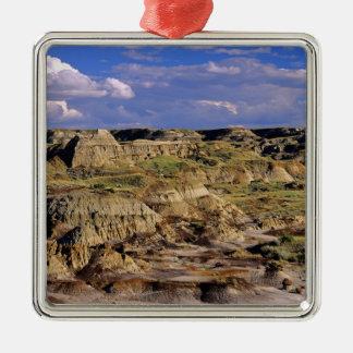 Badlands at Dinosaur Provincial Park in Alberta, 2 Silver-Colored Square Ornament