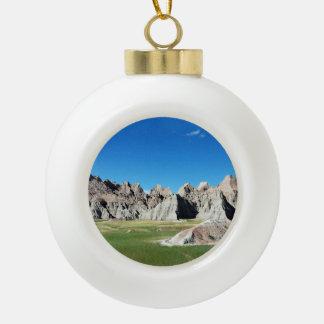 Badlands Ceramic Ball Christmas Ornament
