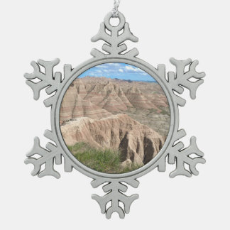 Badlands Eastern Loop Pewter Snowflake Ornament