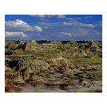 Badlands formations at Dinosaur Provincial Park 4 Poster