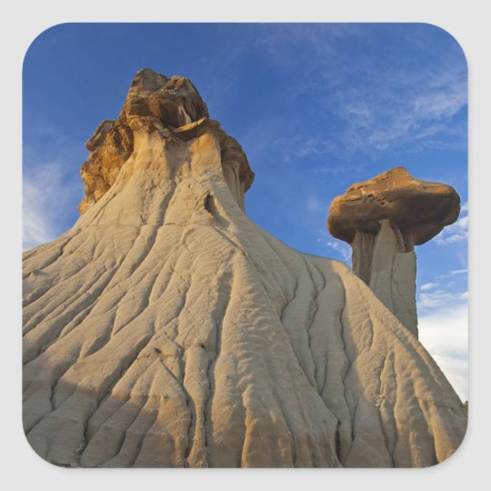Badlands formations at Makoshika State Park in Square Sticker