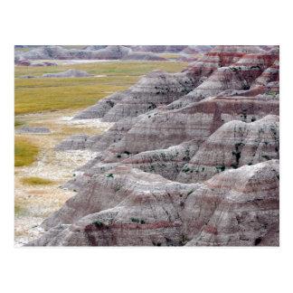 Badlands national park mountains from afar postcard