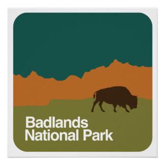 Badlands National Park Perfect Poster