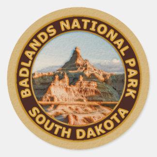 Badlands National Park Round Sticker