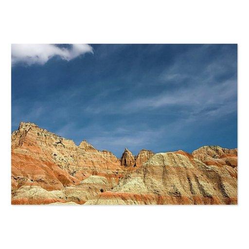 Badlands national park sandy color blue sky business card template