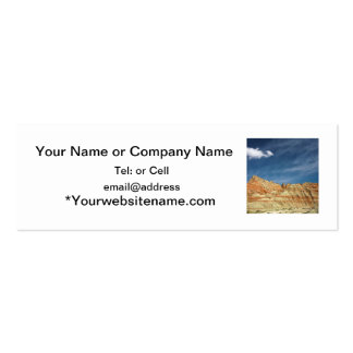Badlands national park sandy color blue sky mini business card