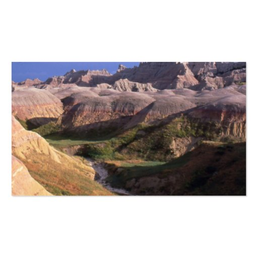Badlands national park scenery view from afar business card template