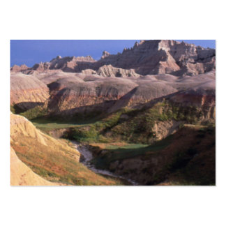Badlands national park scenery view from afar large business card
