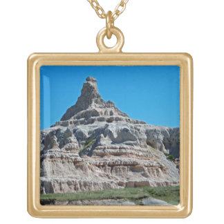 Badlands National Park South Dakota Gold Plated Necklace
