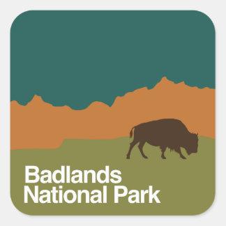 Badlands National Park Square Sticker