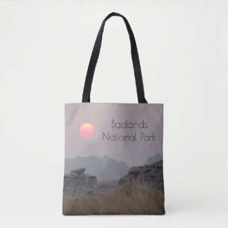 Badlands National Park Sunset Tote Bag