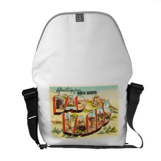 Badlands North Dakota ND Vintage Travel Souvenir Commuter Bag