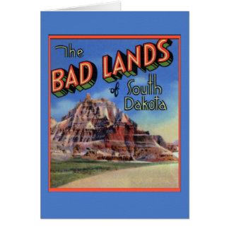 Badlands South Dakota Large Letter Greetings Card