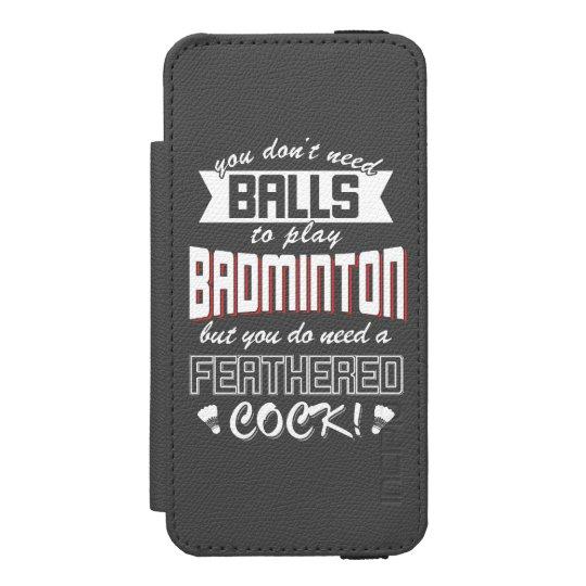 Badminton Balls (Wht) Incipio Watson™ iPhone 5 Wallet Case